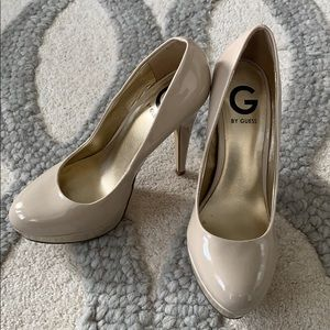 G by guess nude pumps in size 7